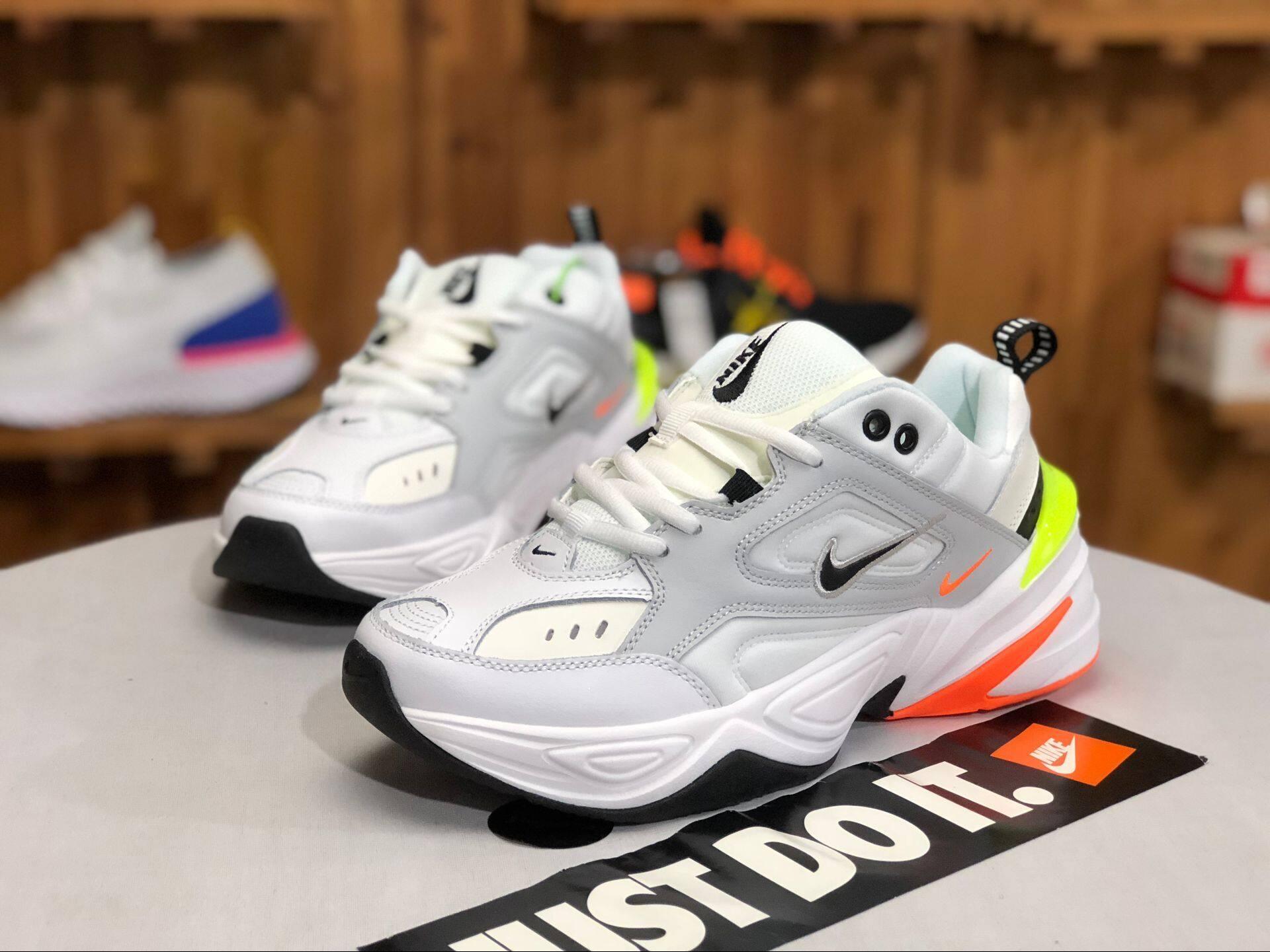 รีวิว 【แบรนด์ใหม่และเป็นของแท้】Nike M2K TEKNO รองเท้าผู้ชาย รองเท้าสตรี รองเท้ากีฬา แฟชั่น รองเท้าลำลอง หนังแท้ รองเท้าวิ่ง AV4789-004 ร้านค้าอย่างเป็นทางก