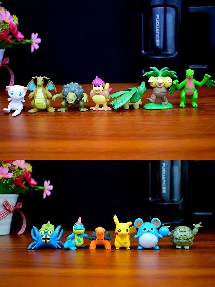 ฟิกเกอร์ โมเดลจิ๋ว Pokemon โปเกมอน 1ถุงมี24ตัว คุ้มมาก