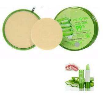 Aloe Vera 99% Powder Peiyen Soothing And Moisture 12 g.No.01แถมฟรี Aloe Lipstick soothing 99%