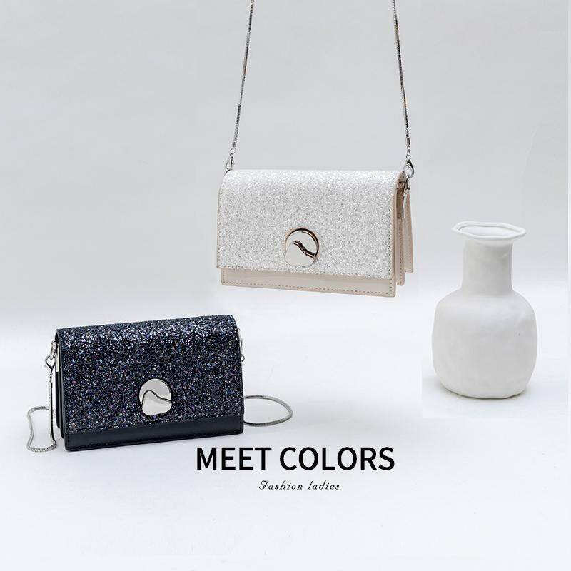 Mi la casa CK Starry Chain Square Sling Bag Female Shoulder Latest Version Sequin Bags Women's Bag New Style 2019 Spring Summer