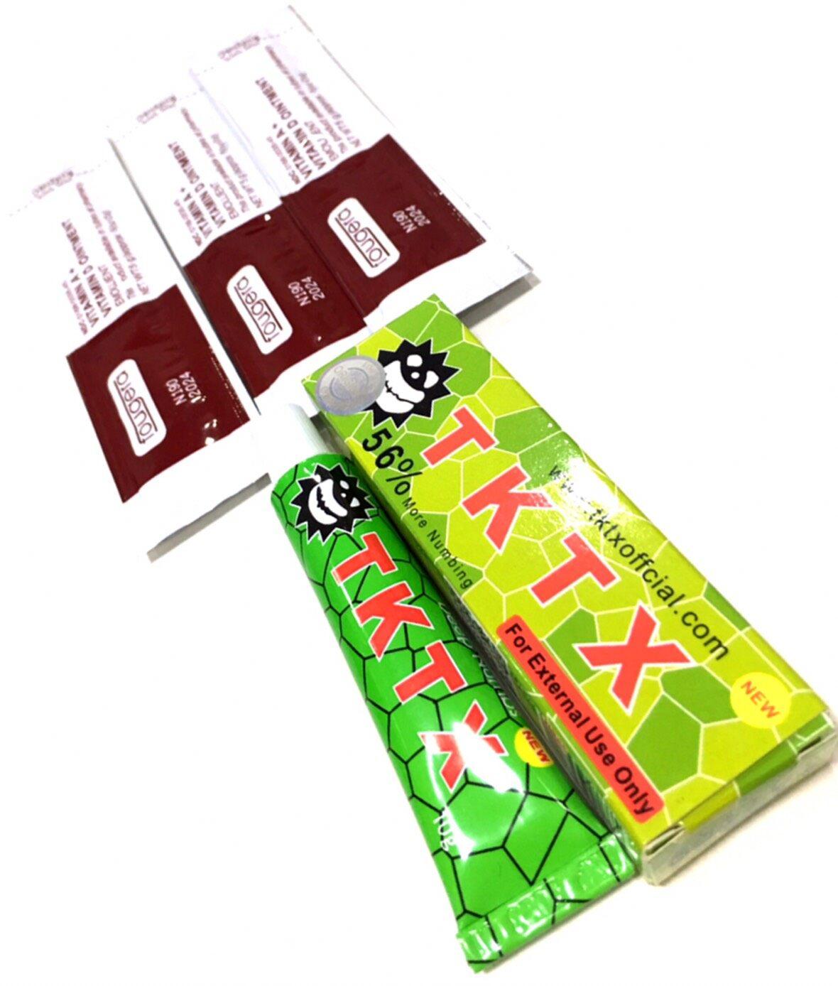 [มีเก็บปลายทาง, สินค้าอยู่ กทม] Tktxofficial Tktx 56% เขียว หลอดสกรีน ( เซต 1 หลอด แถม ครีมบำรุง 3 ซอง ) แท้ 100% มีฉลาก Original คุณภาพสูง.
