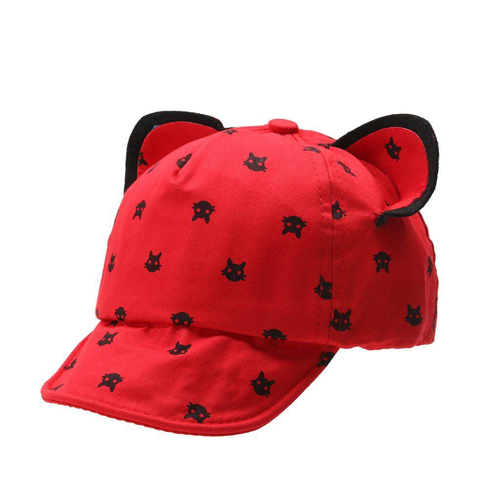 DomybestShop Lovely Cat Sunhat baby Kids Baseball Cap Children Cartoon Peaked Cap