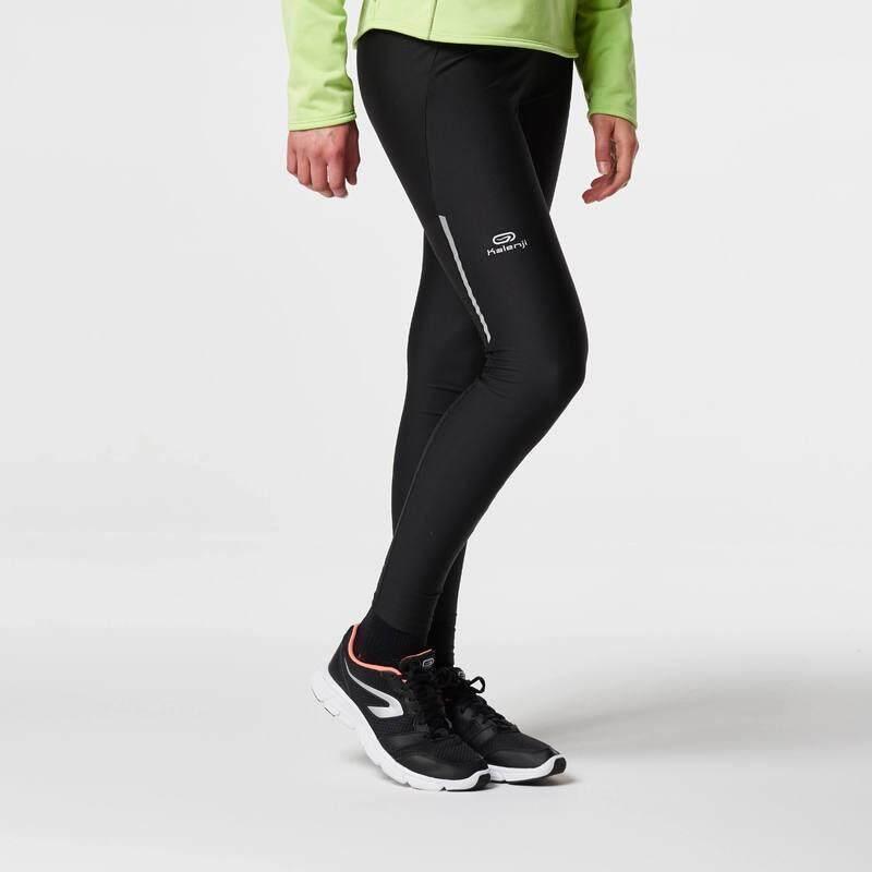 กางเกงใส่วิ่งรัดรูปสำหรับผู้หญิงรุ่น RUN DRY (สีดำ)