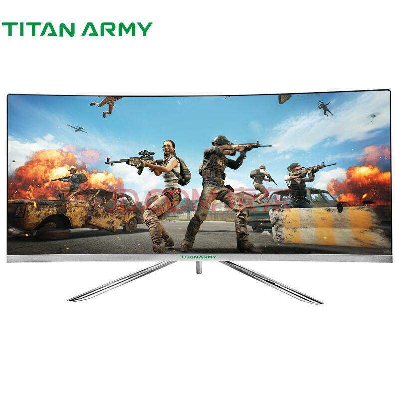 "Titan Army C34S 34"" UltraWide 144Hz LED Gaming Monitor UW-QHD, FreeSync, Samsung VA 1800R Curved Panel"