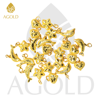 รีวิว AGOLD จี้ทองคำแท้ แฟนซี โลมา แกะลาย น้ำหนัก 0.6 กรัม ทองแท้ 96.5% ฟรี กล่องเครื่องประดับ
