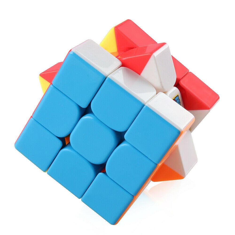 รูบิค 3x3x3 อย่างดีหมุนลื่น CuberSpeed Moyu MoFang JiaoShi MF3RS Stickerless Bright 3x3x3 Magic Cube Original Ultra-smooth Stickerless Puzzle Twist Kids Gift