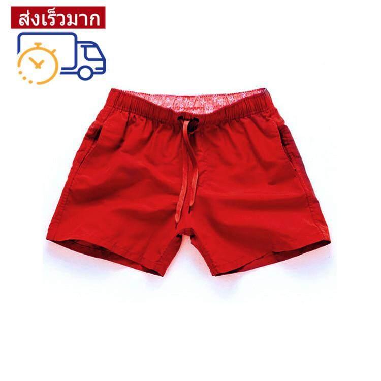 XIAOKE แฟชั่นผู้ชายเกาหลีกางเกงชายหาดกางเกงแห้งเร็วกางเกงว่ายน้ำกางเกงขาสั้น
