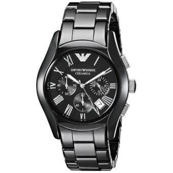 Emporio Armani Chronograph Black Dial Black Ceramic Men's Watch AR1400