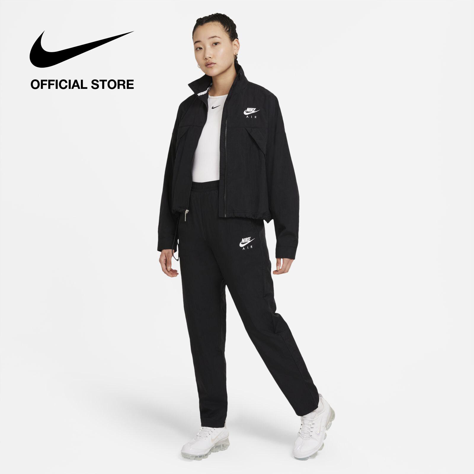 Nike Women's Air Woven Pants - Black ไนกี้ กางเกงขายาวผู้หญิงแบบทอ แอร์ - สีดำ