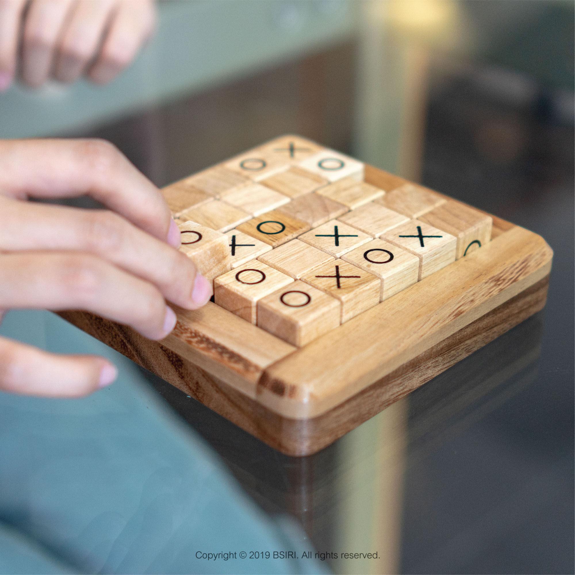 รีวิว เกมไม้ เกมกระดาน การเรียนรู้ เอ็กซ์โอ Pushing Me (5x5 ช่อง) BSIRI เกมส์ไม้บริหารสมอง เกมส์ฝึกทักษะวางกลยุทธ์ เกมกระดานถูกๆ Wooden Board Game