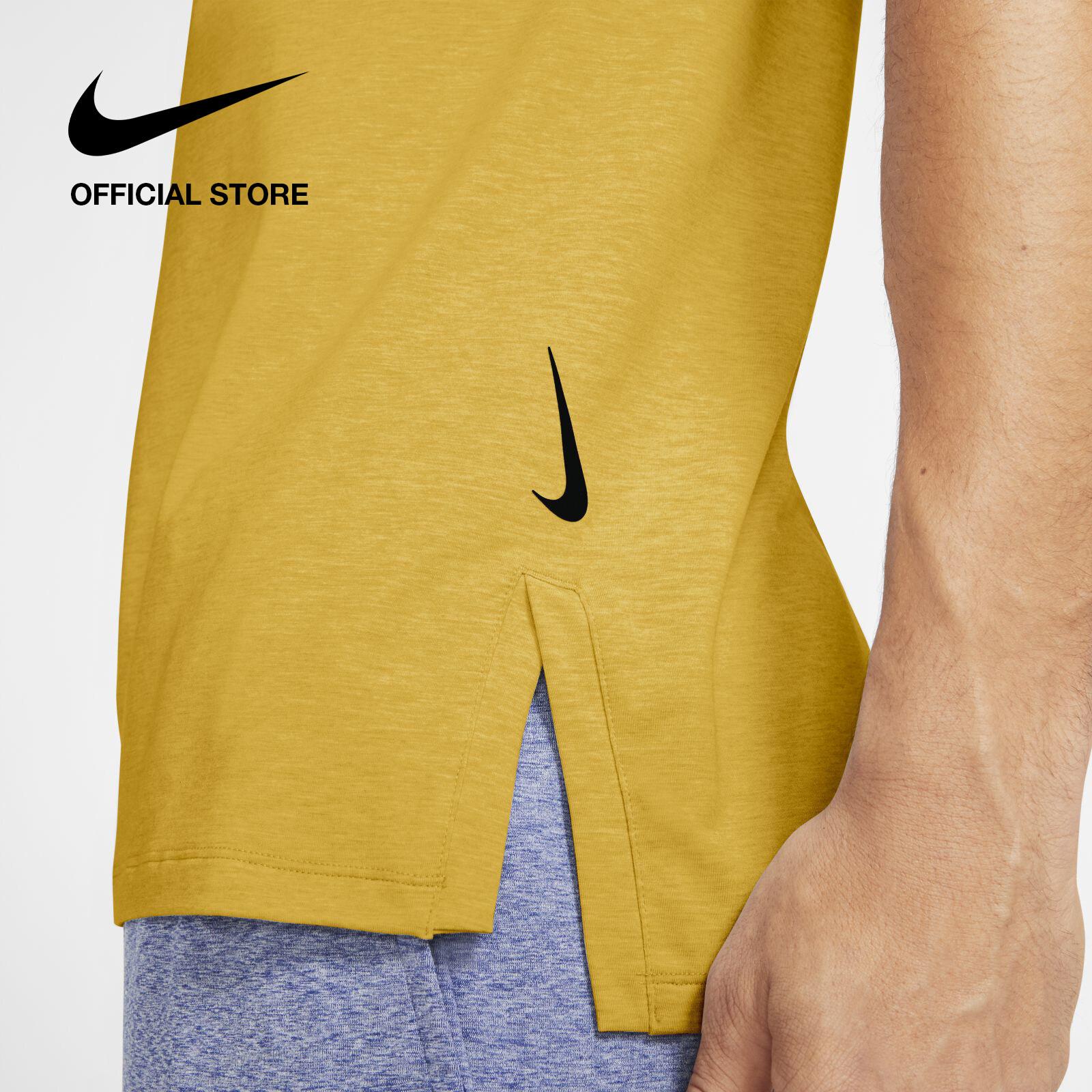 รีวิว Nike Men's Yoga Tank - Dark Sulfur ไนกี้ เสื้อโยคะผู้ชาย - สีเหลือง