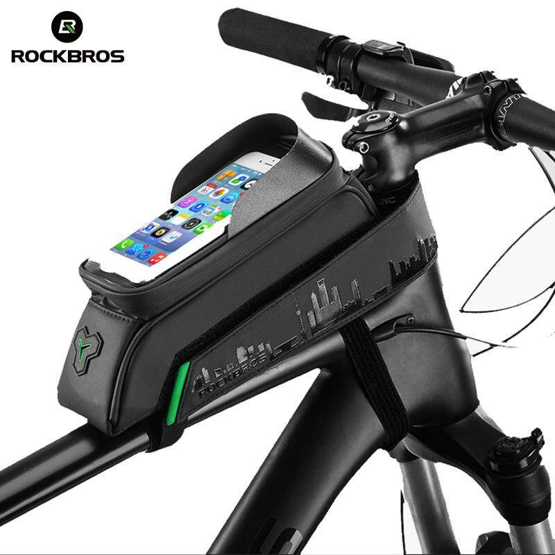 ROCKBROS Bicycle Front Top Tube Bag Phone Touch Screen Frame Bag Bicycle Proof D