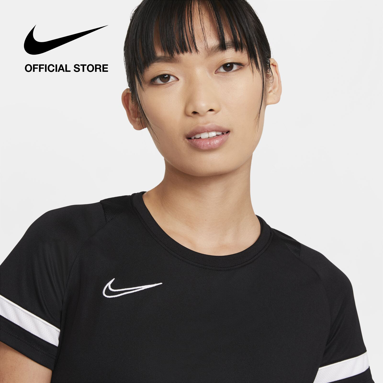 Nike Women's Dri-FIT Academy Football Top - Black ไนกี้ เสื้อยืดผู้หญิง ดรายฟิต อะคาเดมี - สีดำ