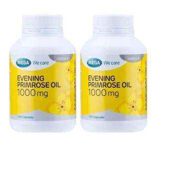 Mega We Care Evening Primrose Oil 1000 mg. 100เม็ด (2กระปุก)