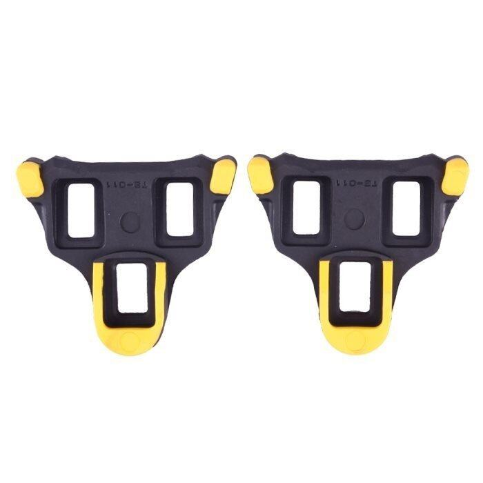 Self-locking Cleat For Shimano Road SM-SH11 SPD-SL Bicycle Pedal(Yellow/Black)