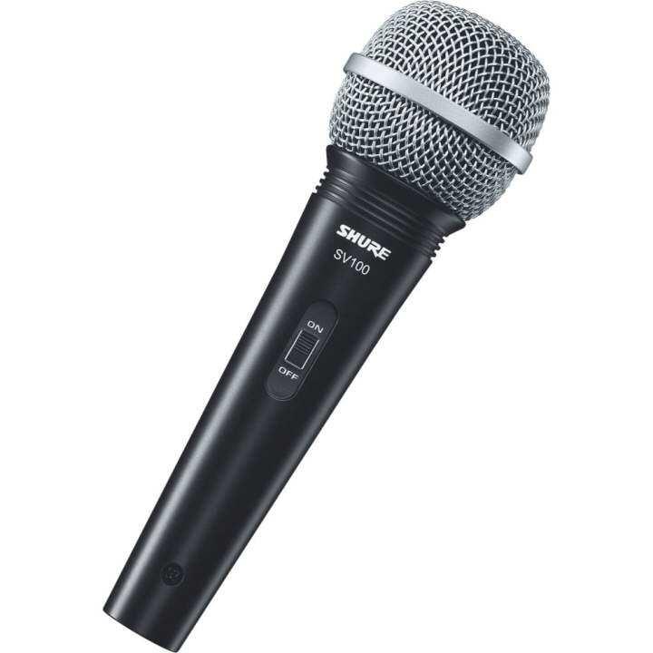 SHURE ไมโครโฟน Microphone (Shure) ไมค์ ร้องเพลง SV100 (Black)