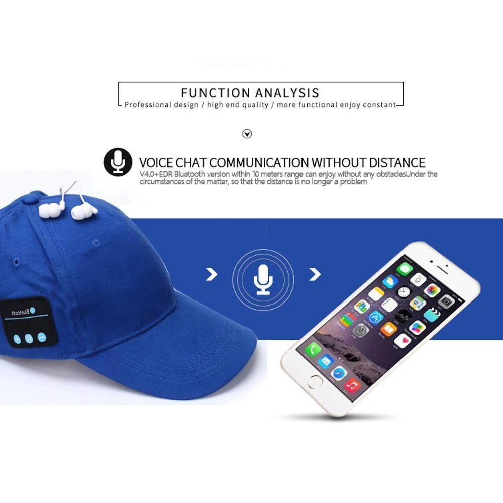 ลดส่งท้ายปี ลำโพงแบบพกพา VAKIND Baseball Cap Bluetooth Wireless Music Speaker (Blue) - intl ยอดขายเยอะมากๆ