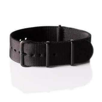 OVERWRIST PVD Nylon Nato Strap Black 24mm สายนาโต้ PVD สีดำ
