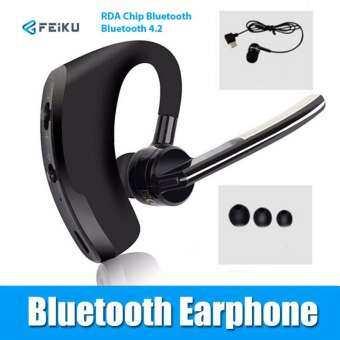 FEIKU V8 หูฟังไร้สาย หูฟังบลูทูธชนิดเกี่ยวหู พร้อมไมค์โครโฟนในตัว ใช้กับโทรศัพท์มือถือทั่วไป (สีดำ)