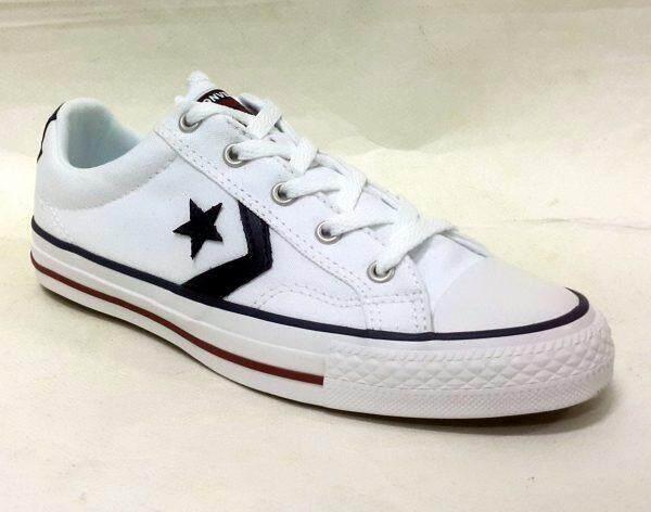 CONVERSE รองเท้าผ้าใบผู้ชาย/ผู้หญิง รุ่น STAR PLAYER OX WHITE - 144151CWW (WHITE)