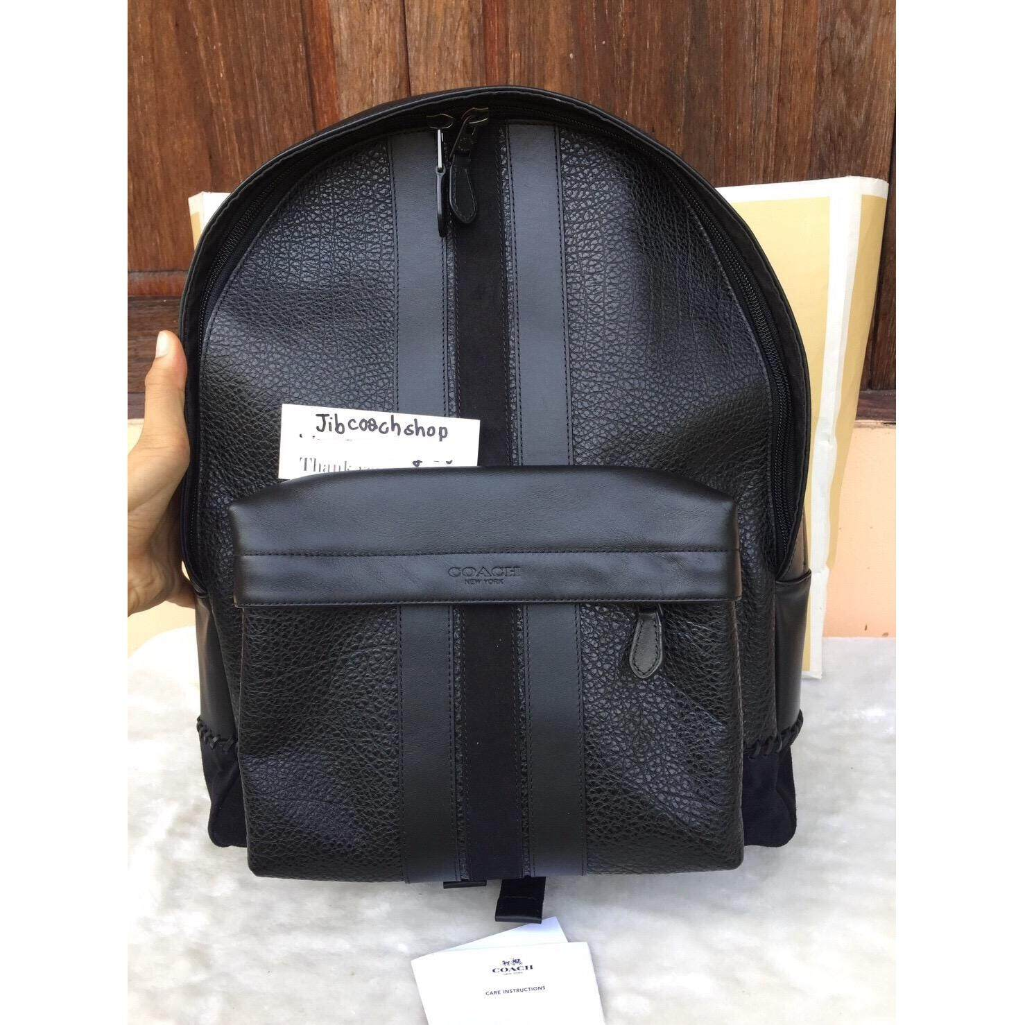 กระเป๋าเป้COACH 11250 CHARLES BACKPACK WITH BASEBALL STITCH Black