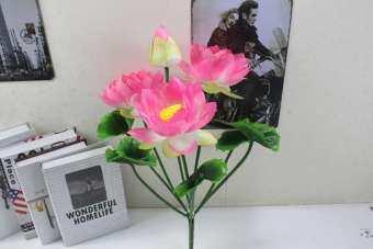ดอกบัวเทียมพระพุทธเจ้าวัดแก้บนบูชาดอกไม้พระพุทธรูปวางดอกไม้พระพุทธเจ้า LOTUS พิธีพระพุทธรูปดอกไม้