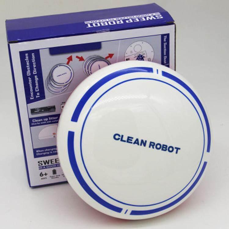 โปรโมชั่น  Mini Intelligent Electric Automatic Round Smart Sweeping Robot Vacuum Cleaner มินิอัจฉริยะอัตโนมัติไฟฟ้ารอบหุ่นยนต์สูญญากาศที่มีความสะอาดสีดำ-White ซื้อที่ไหนดี