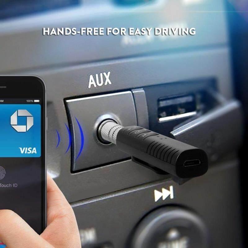 Sale ส่งท้ายปีท็อป 1 ดีที่สุด ลำโพงแบบพกพา Unbanned/Generic Car Bluetooth Music Receiver Hands-free บลูทูธในรถยนต์ แนะนำเลยดีที่สุดแล้ว