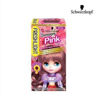 โปรโมชั่น Schwarzkopf Fresh Light Milky Color CHAMPAGNE PINK ชวาร์สคอฟ เฟรชไลท์ มิลค์กี้ น้ำตาลประกายชมพู