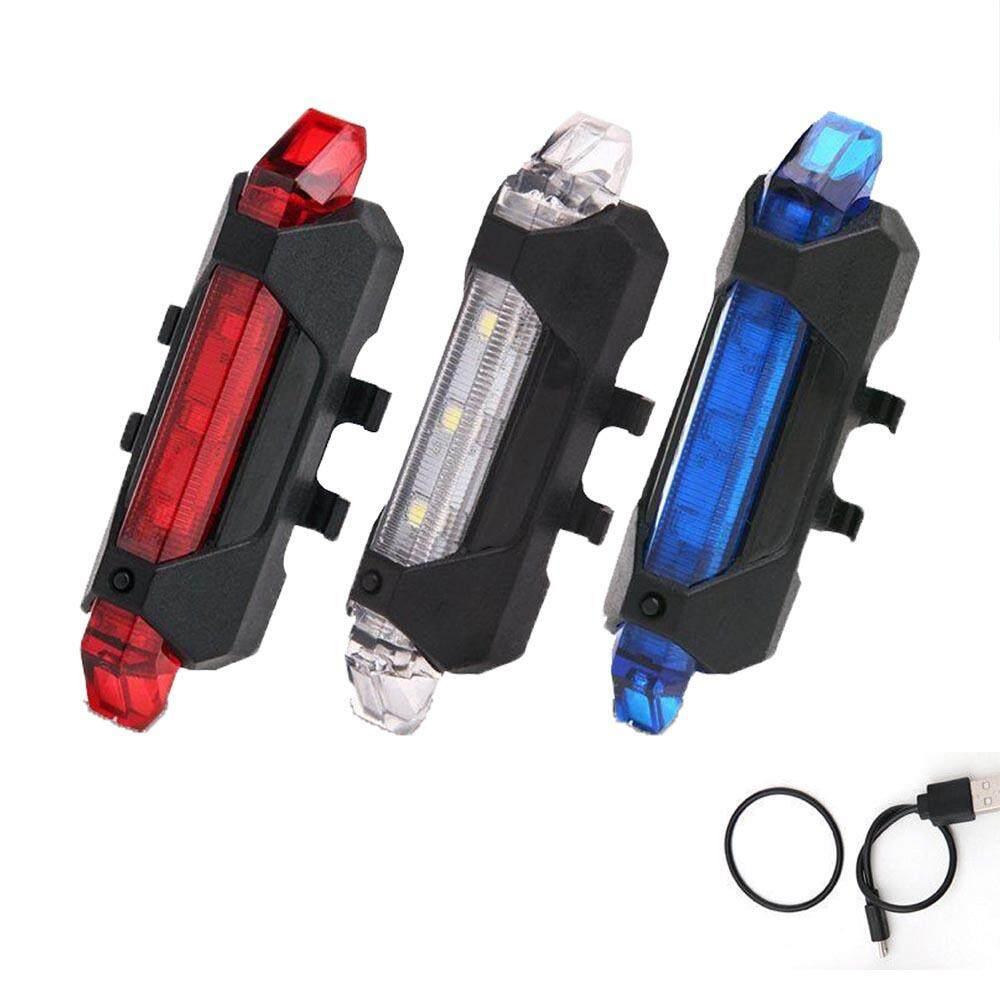 ไฟท้ายจักรยาน แบบชาร์ต USB ไฟท้ายสำหรับเตือนเพื่อความปลอดภัย
