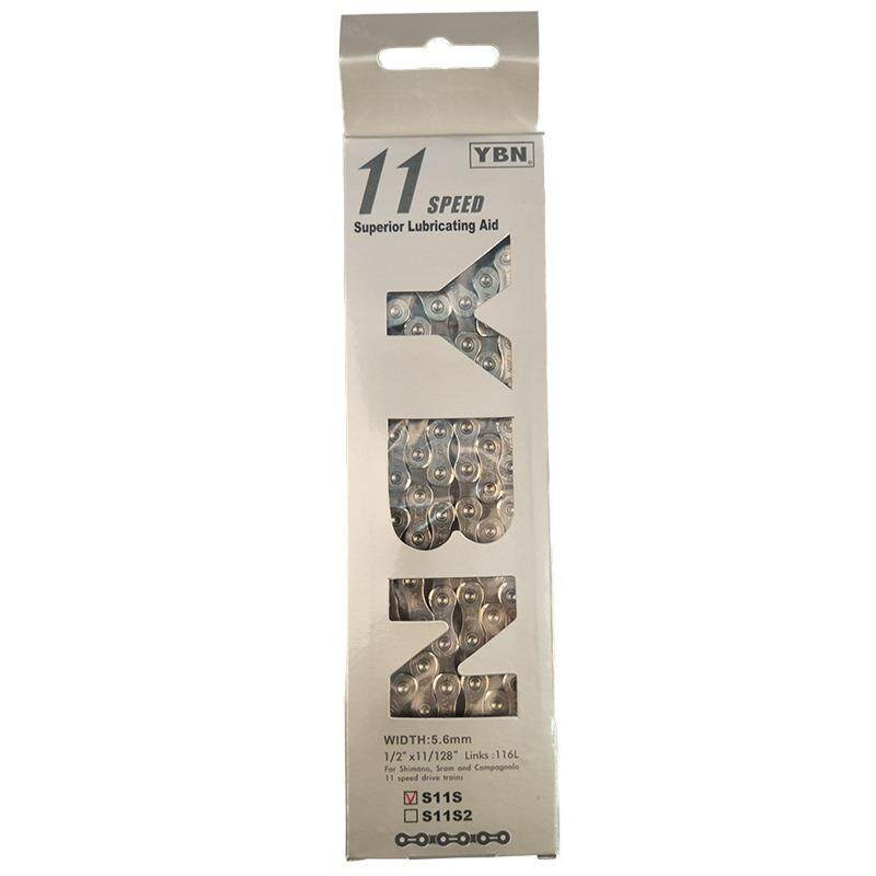 โซ่จักรยาน YBN 11Speed 116L Silver DHA S11s Bicycle Chain Road/MTB