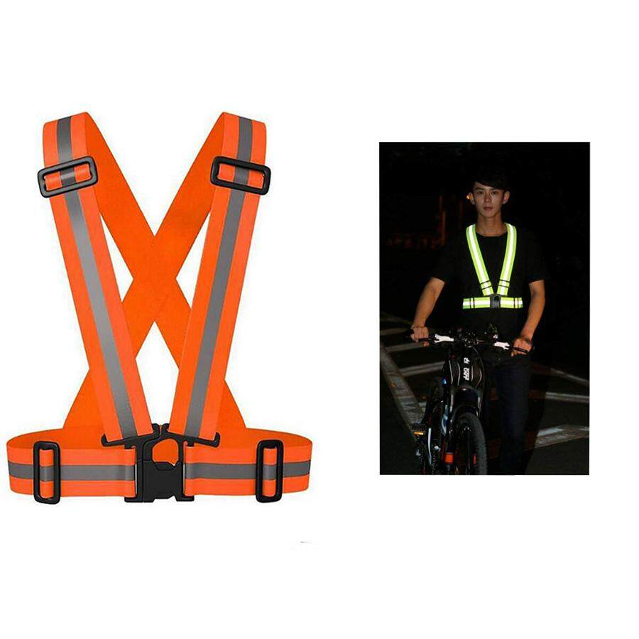Hoopchina Bike Safe Reflective Safety Vest For Construction Traffic Warehouse Visibility Security Jacket Reflective Strips Wear Uniforms(15*11*8CM)