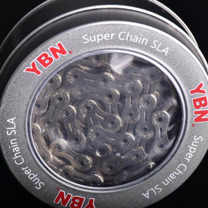 โซ่จักรยาน YBN SLA+DHA Chromium Treatment 9speed 116L With Quick Link Road/MTB Bicycle chain SLA-H9-S2