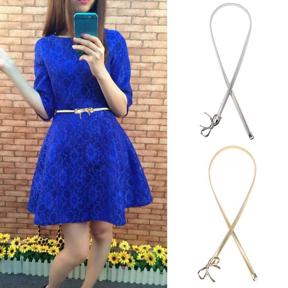 Ikat pinggang wanita gesper 24 merentang busur tali pinggang elastis pegas kurus ikat pinggang emas -