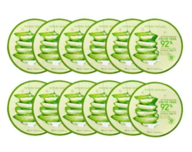 ใช้ดีจริง Nature Republic Soothing Moisture Aloe Vera 92 Soothing Gel 300mlx12 จากธรรมชาติ 100%
