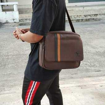 กระเป๋าสพายข้าง  หนัง PU อย่างดี แบรนด์แท้ Zongka 100%  ใส่ไอแพตได้จ้า-