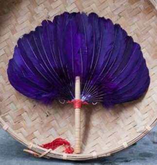 หลากสีงานฝีมือพัดขนนกงานฝีมือพัดขนไก่ดอกบัวพัดลม SWAN ขนนกสแควร์เต้นแฟนอากาศเย็นพัดลมสตรีมีครรภ์ Petpet พัดลม