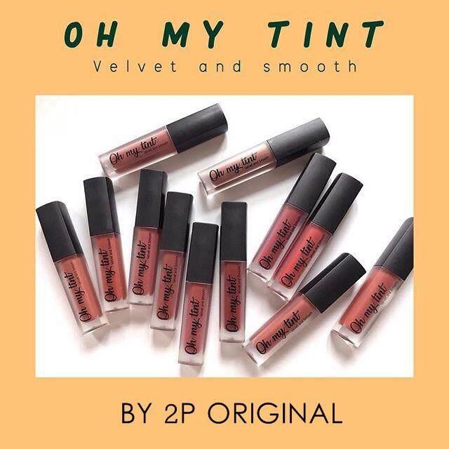 !!สีใหม่ Oh My Tint ลิปติ้นท์เนื้อละมุน OMT โอ้มายติ้นท์ (1 แท่ง)