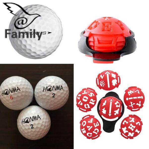 ส่วนลด Big Family:Golf Ball Line Liner Marker Multi-Template Drawing Alignment Multifuctional Red – intl