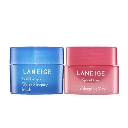 ใช้ดีจนต้องบอกต่อ Laneige Perfect Mini Mask Set (Water Sleeping Mask 15ml แถมLip Sleeping Mask 3g) ครีมมาส์ก +ลิปมาส์ก ครีมบำรุงหน้าที่ดีที่สุด