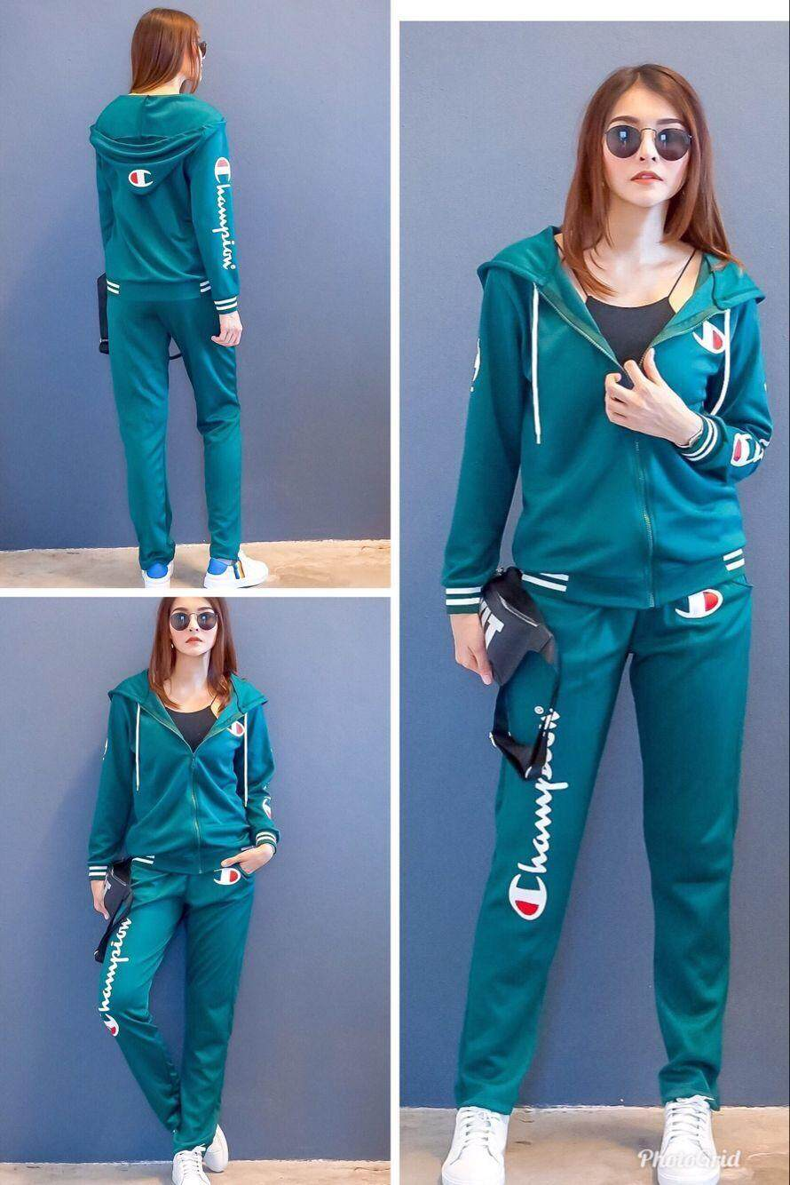 Champion New Fashion casual comfort Women One Set เป็นชุด