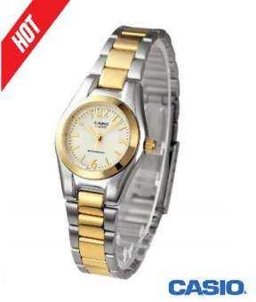 Casio นาฬิกาข้อมือผู้หญิง รุ่น LTP-1253SG-9A สายสแตนเลส สองกษัตริย์ หน้าปัดสีทอง (สินค้าขายดี) - มั่นใจ ของแท้ 100% ประกันศูนย์ 1 ปีเต็ม