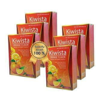 โฉมใหม่!! Kiwista Detox ดีท๊อกซ์ กีวิสต้า รสส้ม ขับล้างสารพิษ ดีท๊อกซ์ลำไส้ ขนาดบรรจุ 5 ซอง (6 กล่อง)-