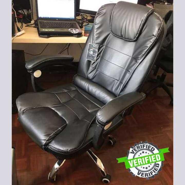 เก้าอี้หนัง เก้าอี้ผู้บริหาร เก้าอี้คอมพิวเตอร์ เก้าอี้สำนักงาน + ระบบนวด / Executive chair leather chair office chair + vibrating system