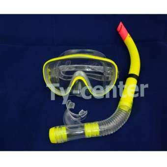 HEALTH - Diving Mask Set อุปกรณ์ดำน้ำ หน้ากากดำน้ำ+ท่อหายใจ  สีเหลือง