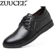 ZUUCEE Men Casual Laces Leather Shoes British Formal Shoes