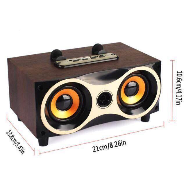 ลดแบบขาดทุน ลำโพงแบบพกพา Unbranded/Generic CMM  Wireless speaker 6series ลำโพงบลูทูธ ลายไม้ รุ่น WoodenSpeaker18C อ่านรีวิวจากผู้ซื้อจริง