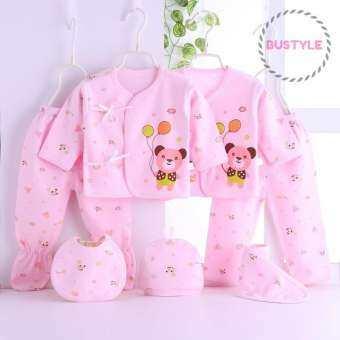 Set 7 ชิ้น สำหรับเด็กแรกเกิด 0-3 เดือน (น้ำหนัก 3-5 kg.) ผ้าคอตตอน FS086-