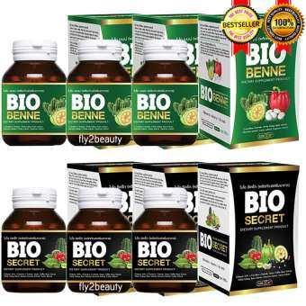 Bio Slim ไบโอ สลิม ขนาด 30 เม็ด (3 กล่อง) + Bio Detox ไบโอ ดีท็อกซ์ ขนาด 30 เม็ด (3 กล่อง) แพคคู่ผอม-