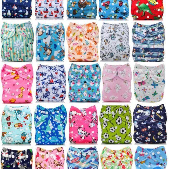 โปรโมชั่น ข้อเสนอ กางเกงผ้าอ้อมซักได้ ชุดพิเศษ! 2/3/4/5/6/7/8 ผ้าอ้อม, กันน้ำพร้อมแผ่นซับแบมบู 4 ชั้น Special Bundle Pack Deals! 2/3/4/5/6/7/8 Pc Pocket Cloth Diaper/Nappy, Waterproof with 4-Layer Bamboo Insert